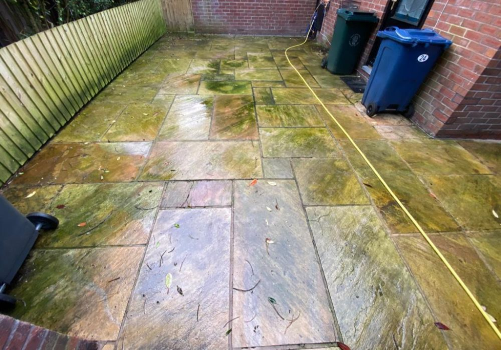 patio cleaning in blackwood gwent